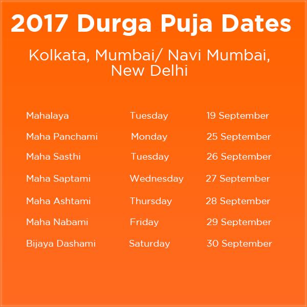 2017 Durga Puja Dates